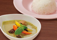 Thai-Style Green curry and rice ¥1,100